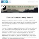Personal Practice - a way forward