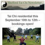 Tai Chi residential, September 2021 – bookings open
